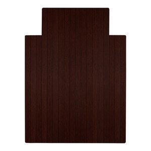"""Jovert Bamboo Roll-Up Chair Mat, Dark Cherry, With Lip, 36""""x48"""""""
