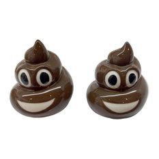 Puckator Emotive Poop Salt and Pepper Set