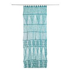 Macramé Door Curtain, Turquoise