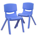 """Flash Furniture - Flash Furniture Stackable Kids School Chair with 12"""" Seat Height, 2 Pack - Blue - Description:"""