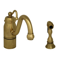 Whitehaus Collection   Beluga Single Handle Faucet, Polished Brass   Kitchen  Faucets