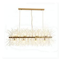 12-Light Gold Plated Dandelion Crystal Dining Room Chandelier
