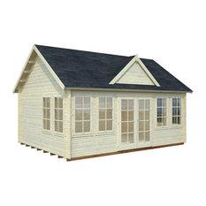 "BZBCabins Lakeview Log Cabin Kit, 209 Sq. Ft., Inside: 17' x 12'6"""