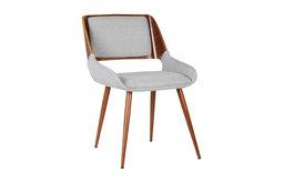 Panda Mid-Century Dining Chair, Walnut, Gray