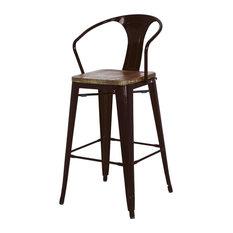 Apt2B - Grand Metal Counter Chairs Black Set of 4 - Bar Stools and  sc 1 st  Houzz & Custom Bar Stools u0026 Counter Stools | Houzz islam-shia.org