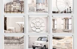 Paris Photography Collection, White by The Paris Print Shop