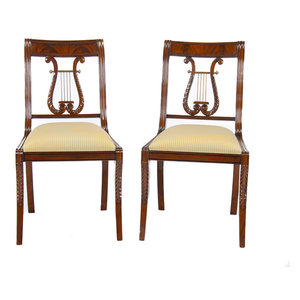 Enjoyable Lyre Side Or Harp Back Side Chair Traditional Dining Ncnpc Chair Design For Home Ncnpcorg
