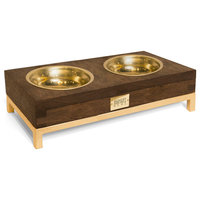 Rommel Pet Bowl BRN Gold, Small-Double