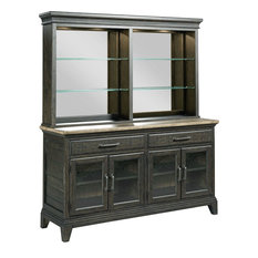Kincaid Furniture Plank Road Rockland Buffet With Hutch Charcoal