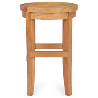 Teak Wood Santiago Outdoor Patio Round Barstool