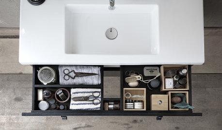 15 praktiske råd: Få orden i skuffer og skabe på badeværelset