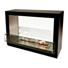 The Bio Flame Sek XL Free Standing See Through Ethanol Fireplace