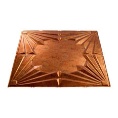 "24""x24"" Fasade Art Deco Lay-in Ceiling Tile, Muted Gold"