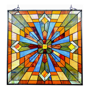 EMMA, Tiffany-glass Window Panel, 24""