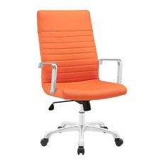 fresh look modway finesse highback office chair orange office