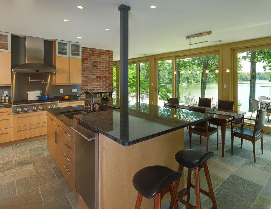 Kitchens - Mid Century Modern Lake House