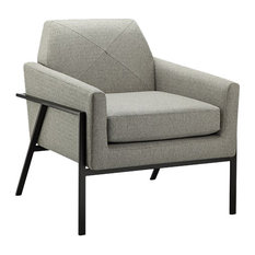 Madison Park Brayden Wood and Metal Chair, Gray