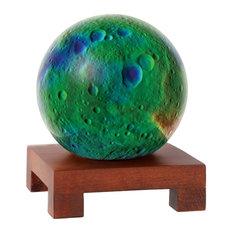 "MOVA 6"" Vesta Revolving Globe With Square Natural Wood Base"