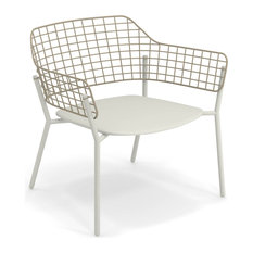 Emu Lyze Outdoor Lounge Chair, Set of 2, Antique White+antique Taupe