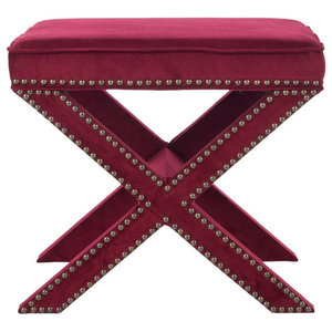 Remy Ottoman Transitional Footstools And Ottomans By