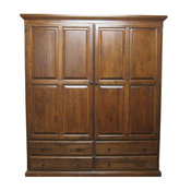 Traditional Wardrobe, Cherry Oak, 60w