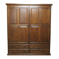 Traditional Wardrobe, Golden Oak, 72w