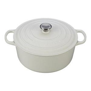 Le Creuset 9 Quart Signature Round Dutch Oven, White