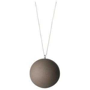 Anne Black Matte Ball Ornament, Brown, Large