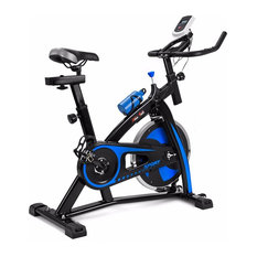 Stationary Exercise Bicycle Cycle Fitness Indoor Cycling Bike Bottle Holder Blue