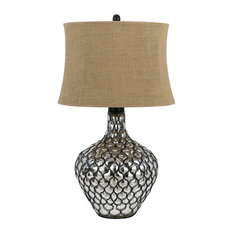 Cal Lighting - Cal Lighting BO-2568TB Puebla 1 Light Pedestal Base Table Lamp - Table Lamps