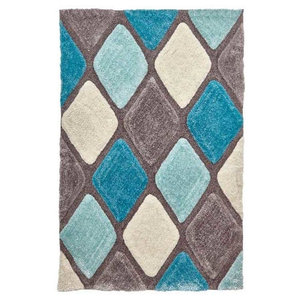 Noble House 9247 Rug, Grey and Blue, 150x230 cm