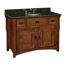 Landmark Bathroom Vanity, Cherry, Nutmeg, Wood Door