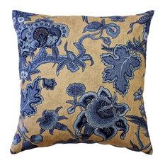 Pillow Decor - Tuscany Linen Brewood Blue Throw Pillow 20X20