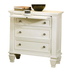 Coaster Clic Nightstand With Pull Out Shelf In White