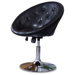 Swell Modern Upholstered Scoop Chair Black Contemporary Cjindustries Chair Design For Home Cjindustriesco