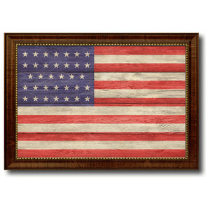 3f93bae9a764 Large Aged Framed Liberty or Death Flag - Rustic - Wall Decor - by ...