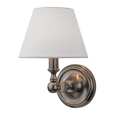 Sidney 1-Light, Wall Sconce, Historic Nickel