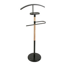 Rubberwood Valet Stand, Black