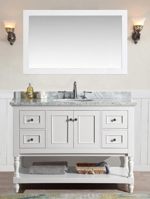 """New 48"""" Cape Cod Bathroom Vanity - White"""