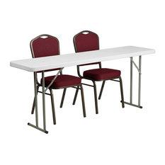 3-Pc Rectangular Folding Table Set