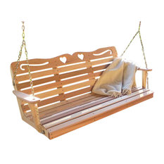 6' Red Cedar American Sweetheart Porch Swing