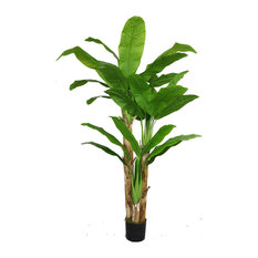 "Artificial Faux Plastic 72"" Tall Banana Tree"