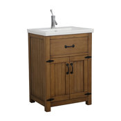 Legion Furniture Legion Gwen Vanity, Weathered Brown