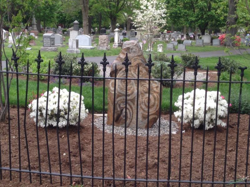 "Historic Doylestown Cemetery-Artisan stone scuplture ""Tree of Life"" in Memorial"