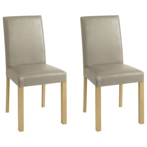 Casa Oak Upholstered Chairs, Set of 2