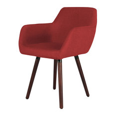 InnovEx Home Products   Milan Accent Chair, Burgundy   Armchairs And Accent  Chairs
