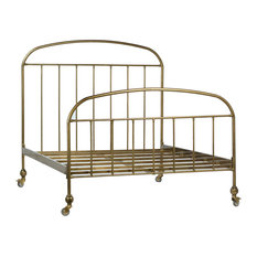 Molina Antique Brass Iron Queen Bed