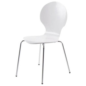 Marcos Dining Chair, Set of 4, White Lacquer
