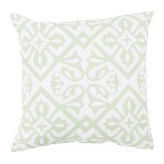 "Rain by Surya Diamond Poly Fill Pillow, Mint/Blush, 20""x20"", RG065-2020"