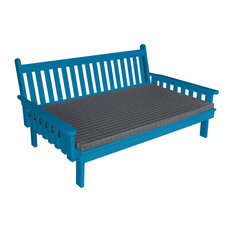 Furniture Barn USA - Painted Pine 6' Indoor/Outdoor Traditional English Day Bed, Caribbean Blue - Daybeds
